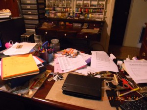 This is how my desk looked...on average.